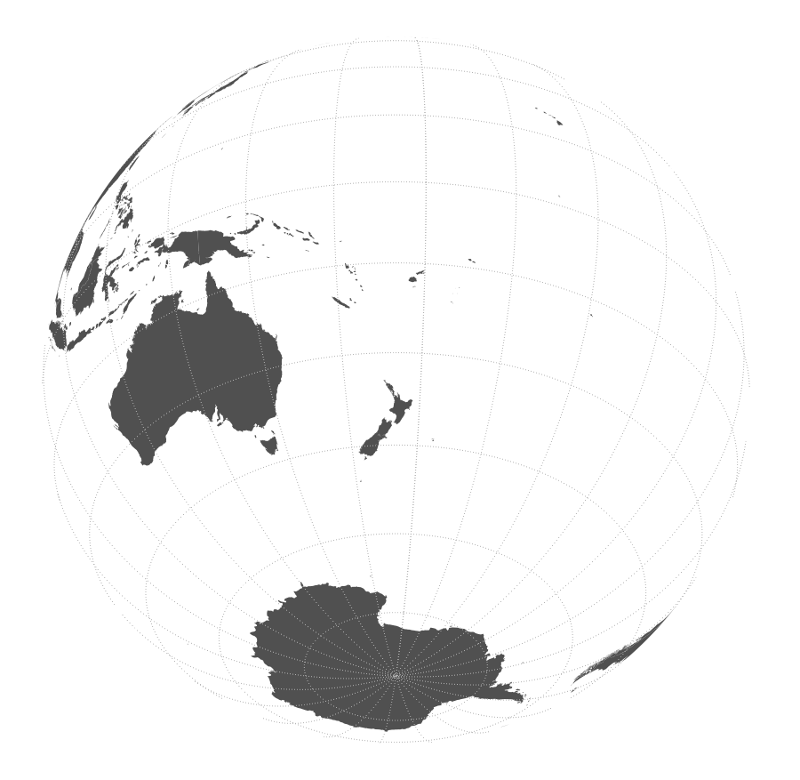 Azimuth orthographic projections with qgis hamish campbell polemic this is an example of an azimuthal orthographic projection of the earth centered on new zealand creating maps with azimuthal orthographic projections in gumiabroncs Image collections